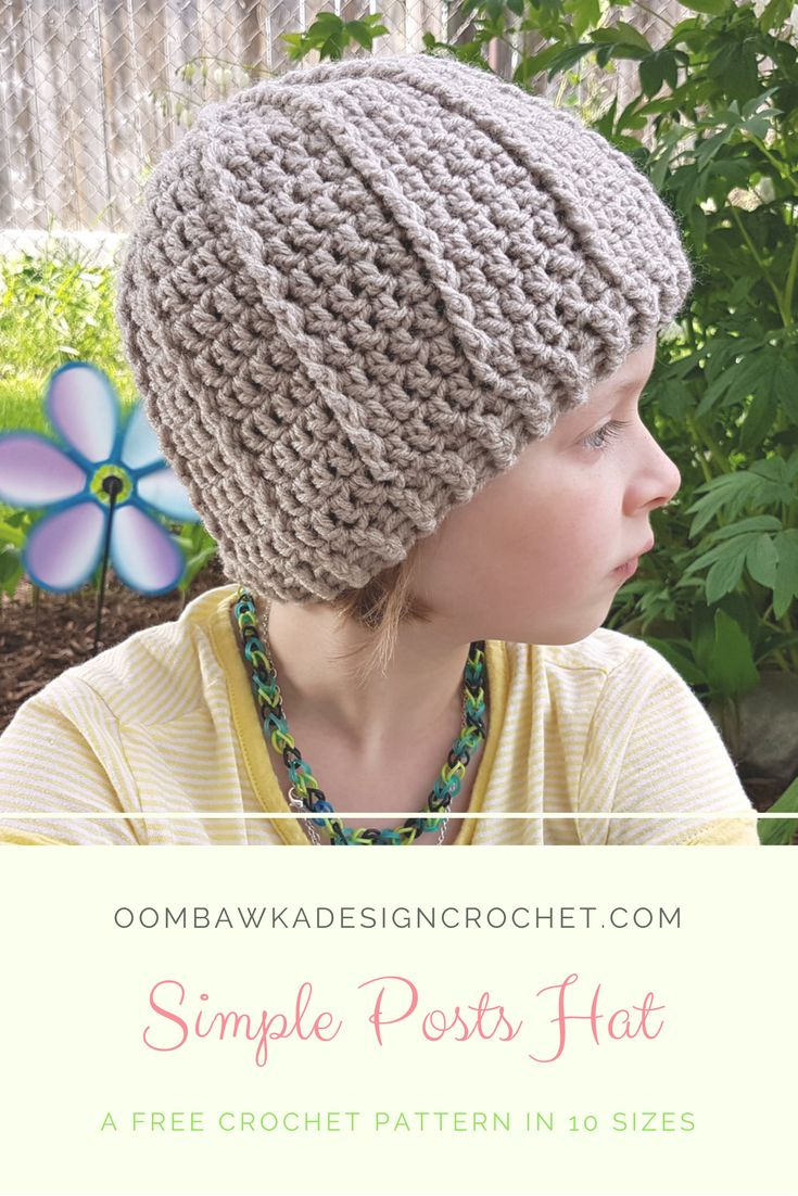 556 best crochet hats free patterns images on pinterest simple posts hat free crochet pattern in 10 sizes bankloansurffo Images