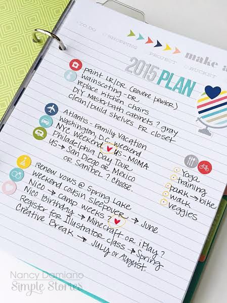 Life Documented Planner Goals and Plans with Nancy Damiano | Simple Stories