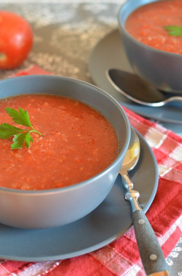 Classic Gazpacho... Would have to be GF vinegar, but sounds good!