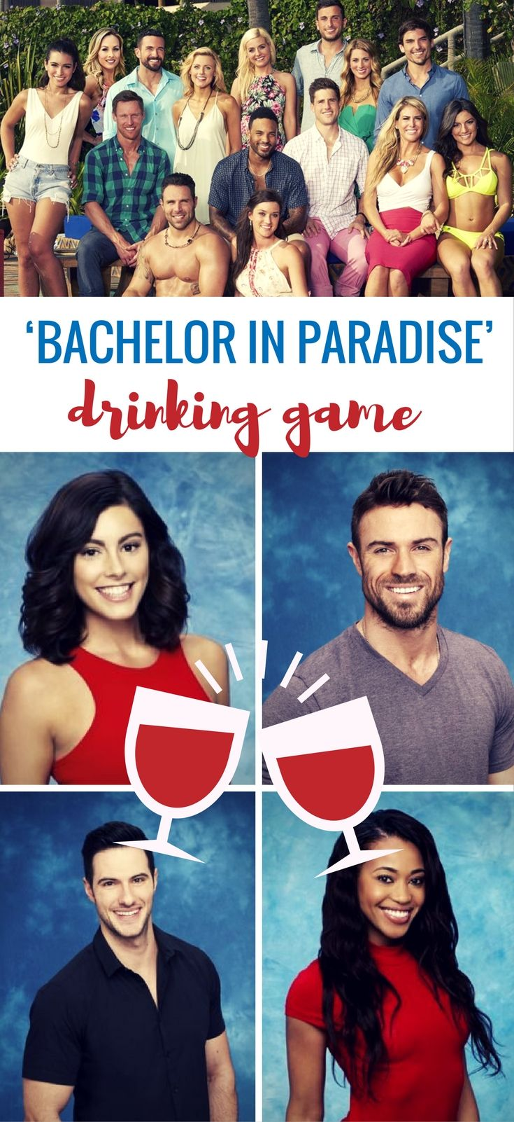 "Time for the trashiest of the trashy reality TV shows to grace us with its presence for the third summer in a row…Bachelor in Paradise, oh how we've missed your boozing, backstabbing, and blubbering. Oh yeah, and I guess there's some ""love"" in there too…somewhere, maybe."
