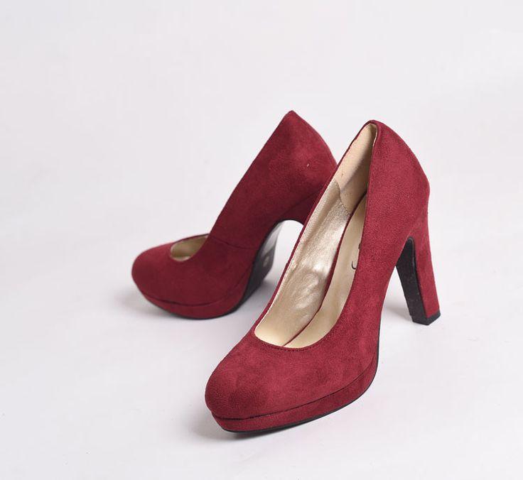 Внешнеторговые большой размер обуви простой ретро сексуальный бордовый велюр водонепроницаемый ультра-высокой 10см толщиной с синглов обувь ночной клуб - Taobao