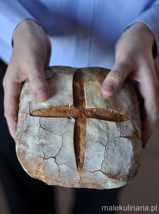 Francuski chleb wiejski na zakwasie