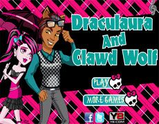 Draculaura And Clawd Wolf Dressup | Juegos Monster High