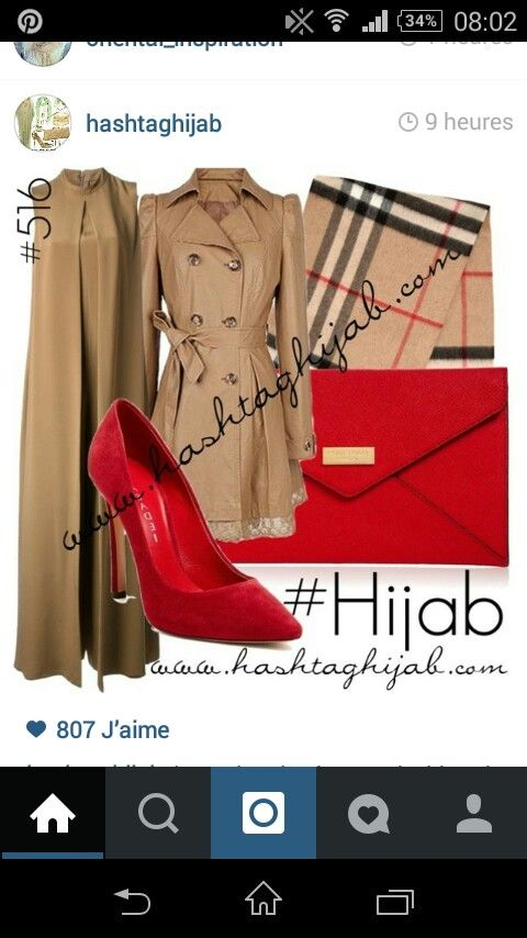 Pop of red Burberry