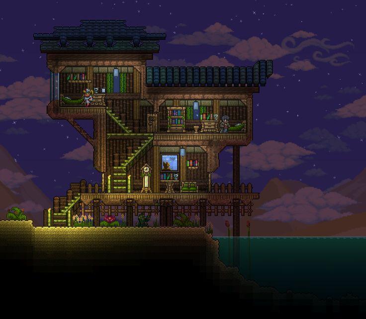 Oasis House : Terraria | Terraria house ideas, Terraria ...