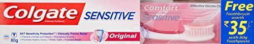 Colgate Sensitive Original Toothpaste  80 g with Free Toothbrush Worth 35 At Rs.84 From Amazon
