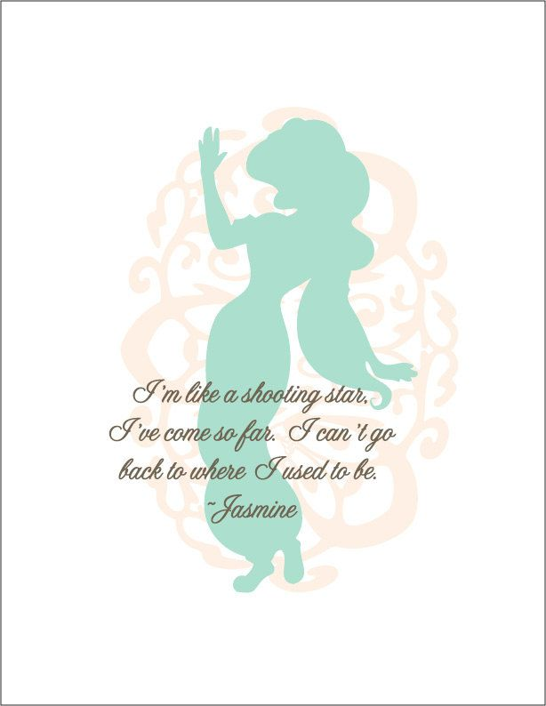 disney princess quotes | Walt Disney Princess Jasmine Print by TinyTomatoInc on Etsy