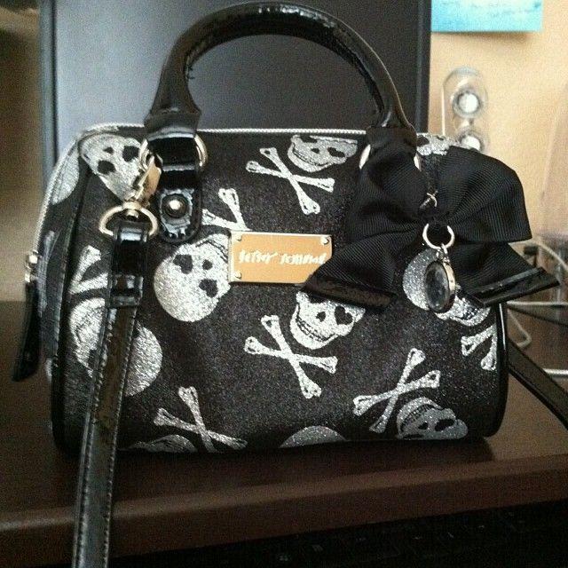 A Betsy Johnson purse black /silver