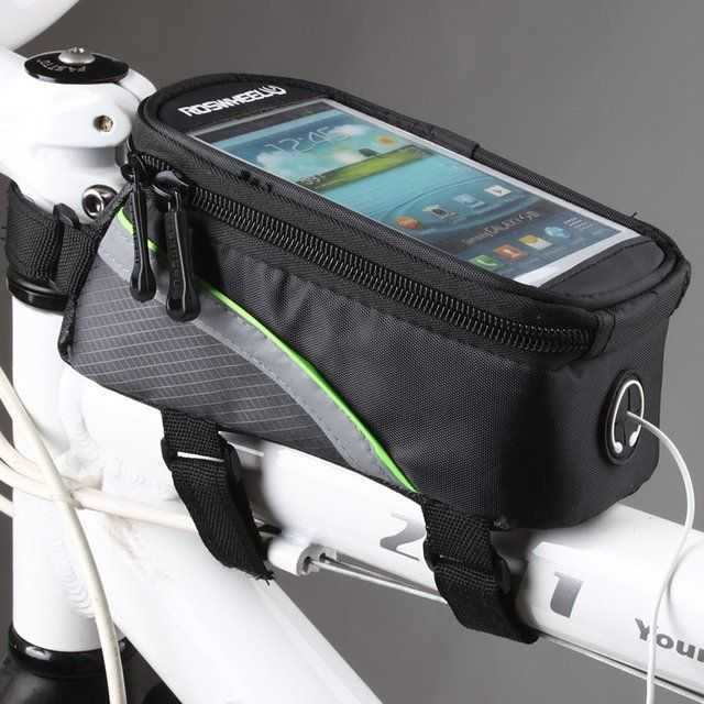 Roswheel Bike Frame Front Tube Bag / For perfect access of mobile phones while bike riding, the best thing you could use is the Roswheel Bike Frame Front Tube Bag. http://thegadgetflow.com/portfolio/roswheel-bike-frame-front-tube-bag/