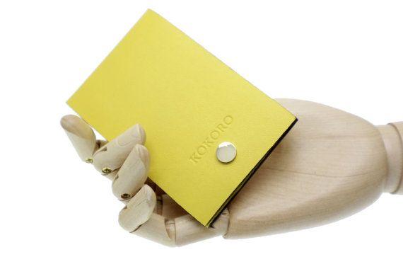 Personalised Women elegant yellow minimal by Kokoroleather on Etsy