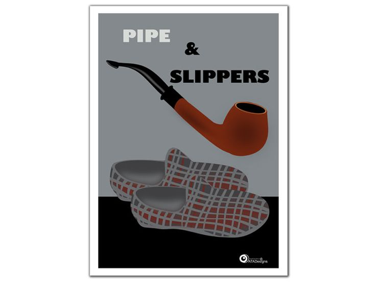 Pipe and Slippers Art Print