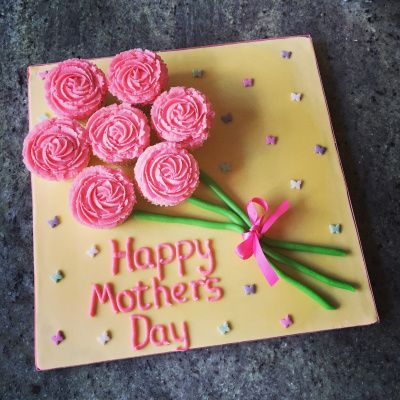 Raspberry & Prosecco Mother's Day Cupcake Bouquet by Richard Burr
