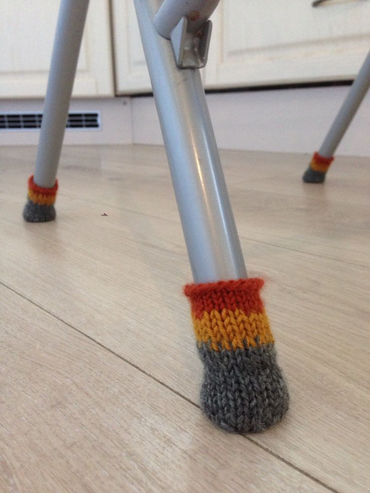 Knitted 'socks' for my kitchen chairs.