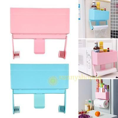 Magnetic Wall Mount Kitchen Paper towel Cling Film Holder Storage Rack BottleNew