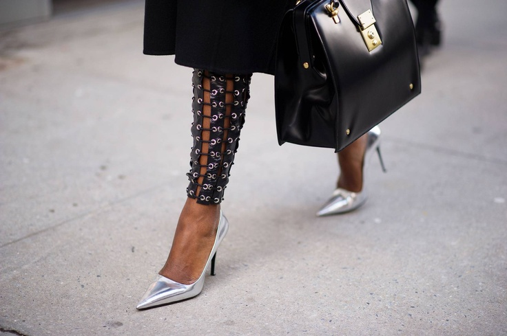 Looking fierce with the silver pumps! #pointytoe #streetstyle #inspiration: