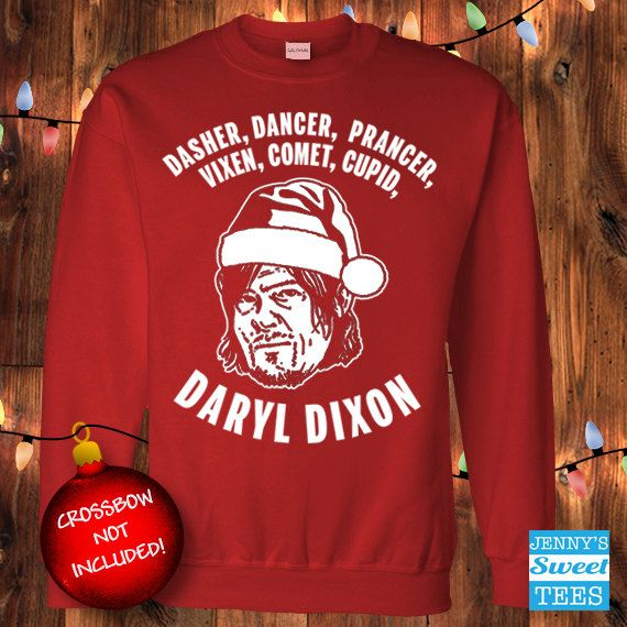 Ugly Christmas Sweater  Daryl Dixon Reindeer  Walking Dead. XL, please.