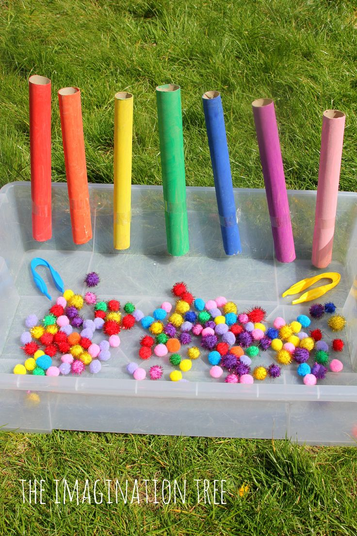 Colour sorting and fine motor activity for preschoolers