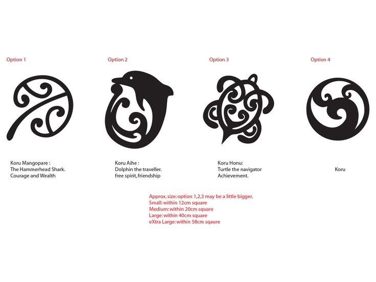 Maori Tattoo Meanings And Symbols: Details About Maori Koru Mangopare Honu Aihe NZ Kiwi