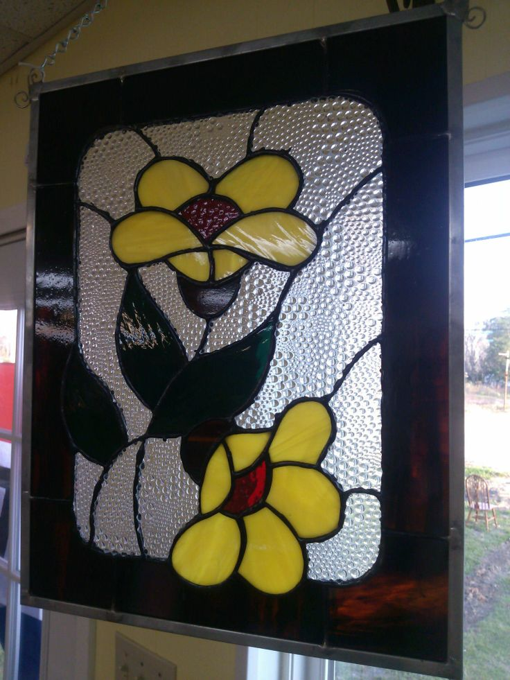 Yellow Flowers Stained Glass
