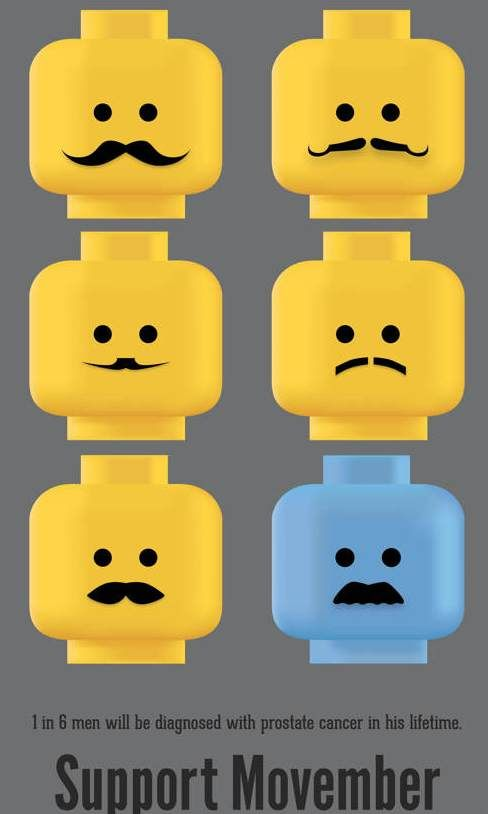 Men's Health Movember Lego