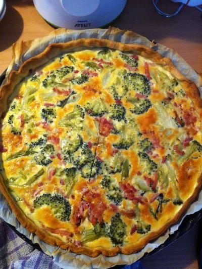 Quiche brocolis lardons #recette #tarte #plat