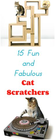 Looking for a great cat scratching post? I tried to find a collection of cat scratching posts that  offer both function and fun. Starting with some of the best reviewed and rated ones and ending with posts that are simply fun, here are my pick's for the best 15  Fun And Fabulous Cat Scratching Posts.