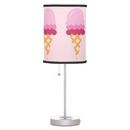 Strawberry ice cream desk lamp - diy cyo personalize design idea new special