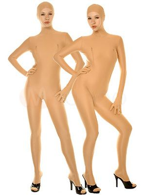Cheap Halloween Lycra Spandex Catsuit Skin Color Bodysuit Morphsuits #Halloween #Bodysuit