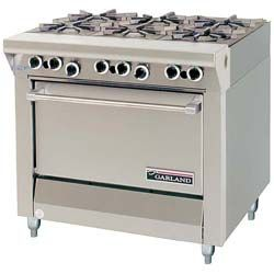 New Vs. Used Commercial Kitchen Equipment: Garland 6 Burner Commercial  Kitchen Range