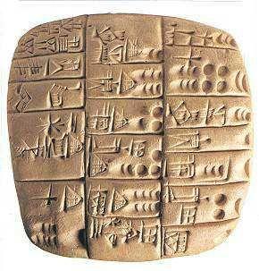 La Mésopotamie. Ecriture cunéiforme