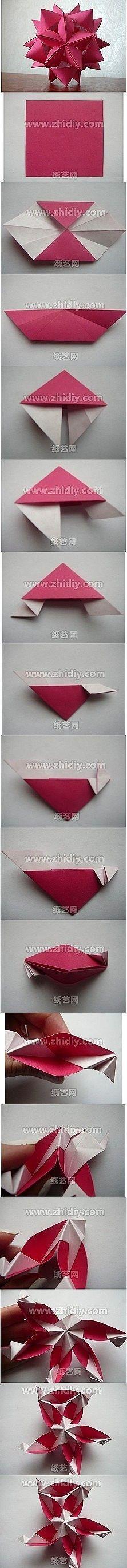 modular origami, kusudama variation