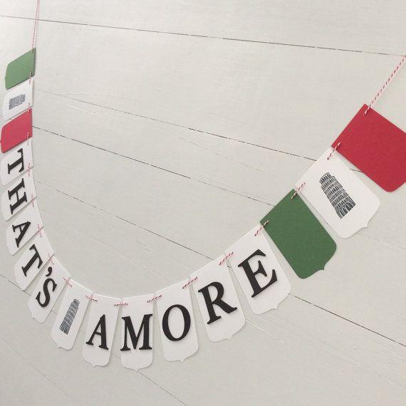 Italian Theme Party Banner von LeroyLime auf Etsy