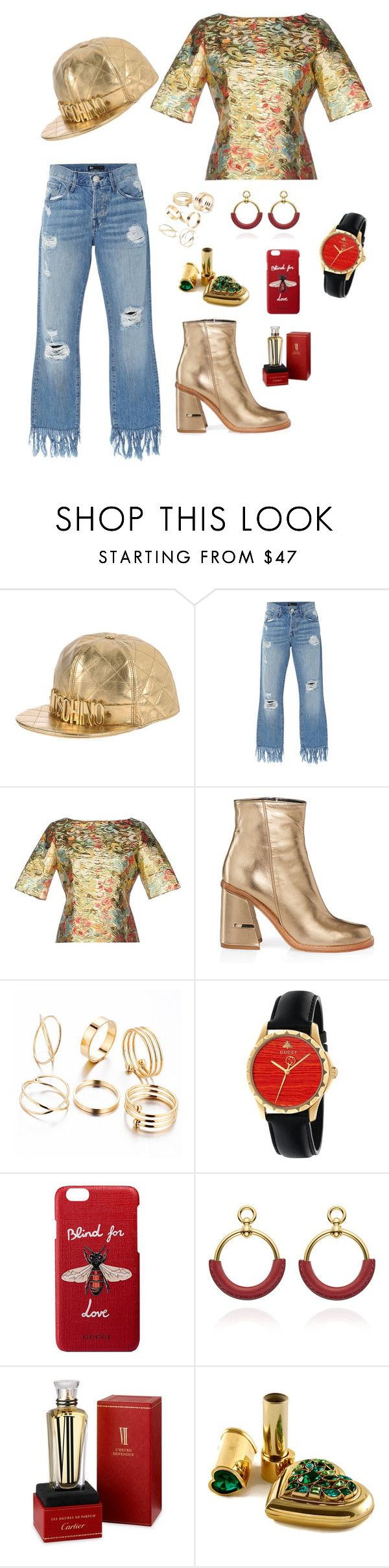 """""""Mmmm!"""" by redbone1961114 on Polyvore featuring Moschino, 3x1, TIBI, Gucci and Cartier"""
