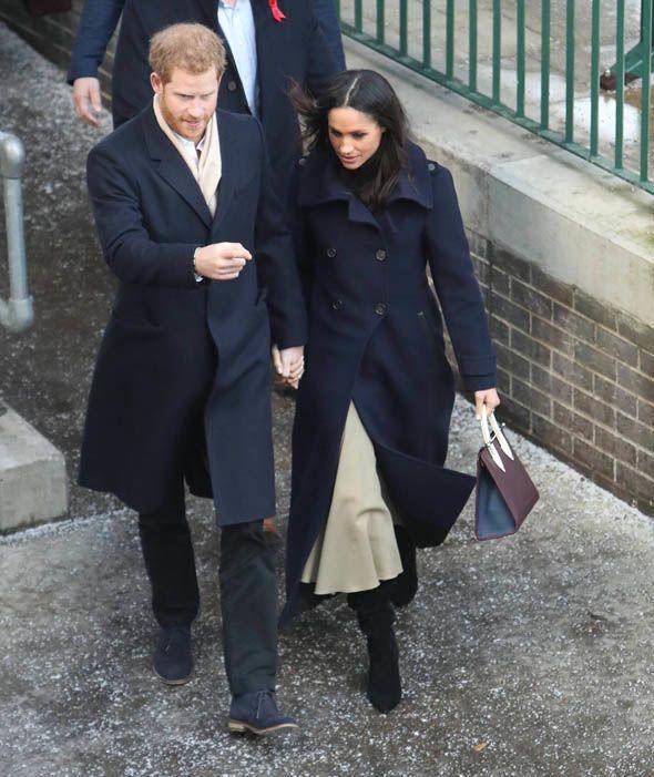 Prince Harry and Meghan Markle arrive at Nottingham Station