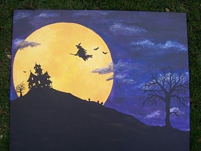 Easy DIY Halloween Painting