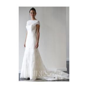 Yumi Katsura - Spring 2014 - Short Sleeve Lace Sheath Wedding Dress - Stunning Cheap Wedding Dresses|Prom Dresses On sale|Various Bridal Dresses https://www.retroic.com/yumi-katsura/15140-yumi-katsura-spring-2014-short-sleeve-lace-sheath-wedding-dress.html by cydeatb
