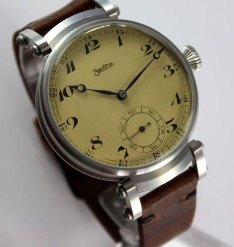 Junbo-ZentRa-swiss-ANTIKE-Art-Deco-Style-mariage-ARMBANDUHR-Wrist-Watch