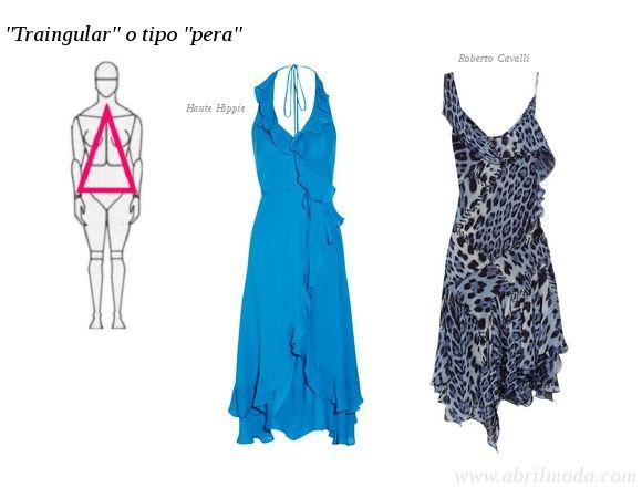 CUERPO TRIANGULO - Si es la cadera lo más amplio del cuerpo, utiliza prendas que destaquen los hombros para lograr el equilibrio.