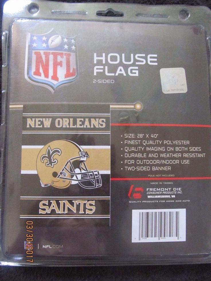 """NFL 2 SIDED HOUSE FLAG - NEW ORLEANS SAINTS 28"""" X 40""""  #NewOrleansSaints"""