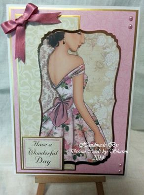 Card made using Kanban Bella Fiori paper craft collection for female cards.