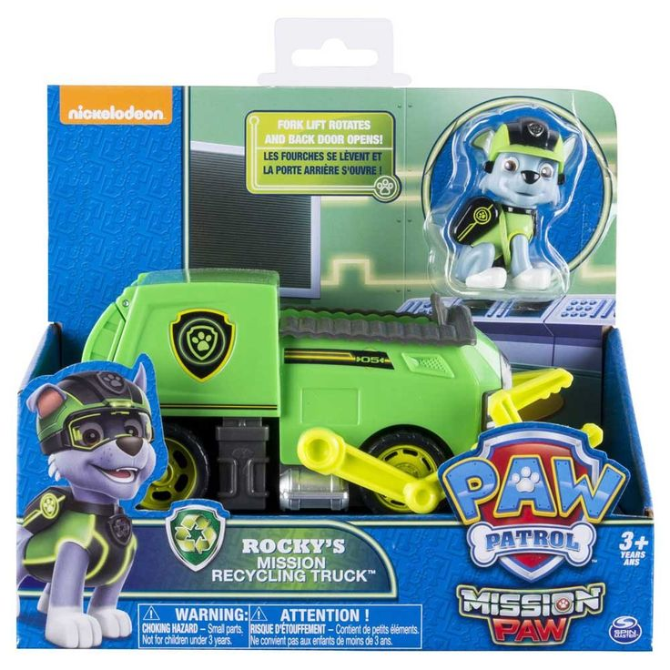 Paw Patrol Mission Paw Rocky's Mission Recycling Truck-Toy Universe