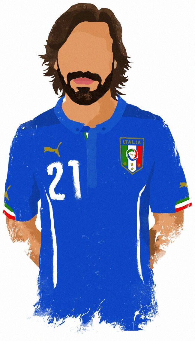 World Cup 2014 Stars - Pirlo. My illustration collection.