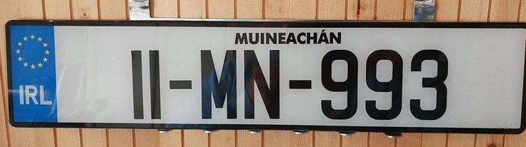 Monaghan Ireland License Plate New Condition Free Dealer Surround 11 MN 993..