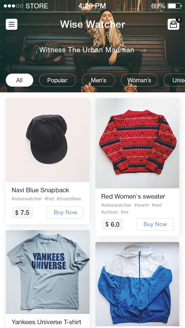 eCommerce app by Bunin