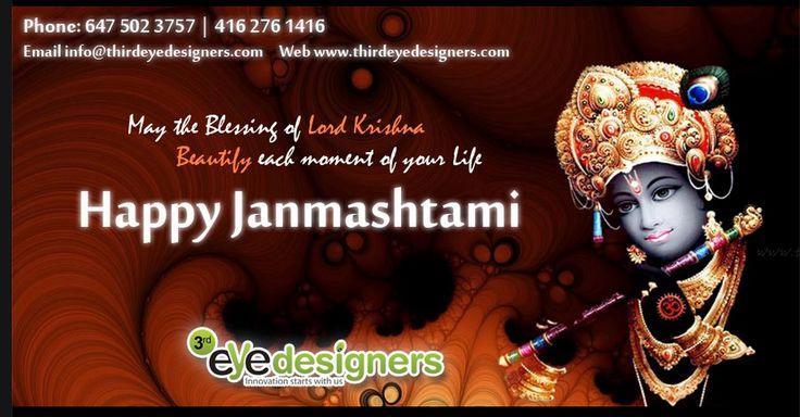 Happy Krishna Janmashtami to all from Team #ThirdEyeDesigners ..!! कृष्ण जन्माष्टमी के पावन पर्व पर आपको सपरिवार कोटि कोटि बधाईया एवं शुभकामनायें। #Krishna #Janmashtami #KrishnaJanmashtami #Govinda #HappyKrishnaJanmashtami #कृष्णजन्माष्टमी #कृष्ण #जन्माष्टमी #बधाईया #शुभकामनायें #birthday #HappyBirthday