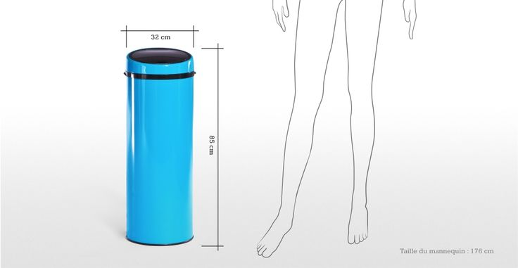 Sensé Bin, une poubelle automatique 50L bleue | made.com 50€ sale