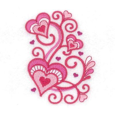 Jacobean Valentine 1 embroidery design