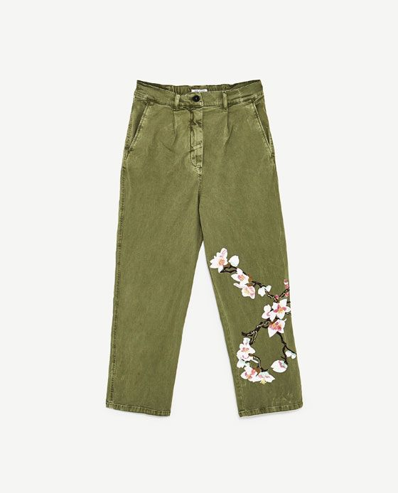 Image 8 of KHAKI CHINO TROUSERS from Zara