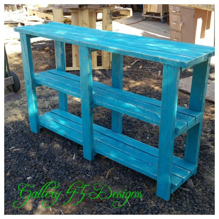 Nice Pallet TV Console  #livingroom #pallettvstand #recyclingwoodpallets This piece was made from the 2x4 portion of several pallets. They were all a hard wood which made the finished piece very heavy. ...