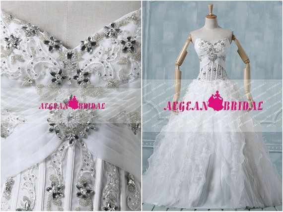 Hey, I found this really awesome Etsy listing at https://www.etsy.com/listing/196438005/rw103-ruffled-wedding-dress-with-beading